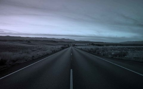Empty highway, FedEx route